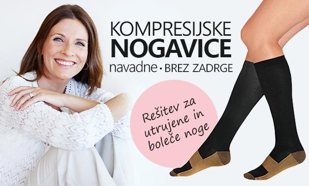 Kompresijske nogavice brez zadrge