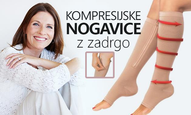 Kompresijske nogavice z zadrgo